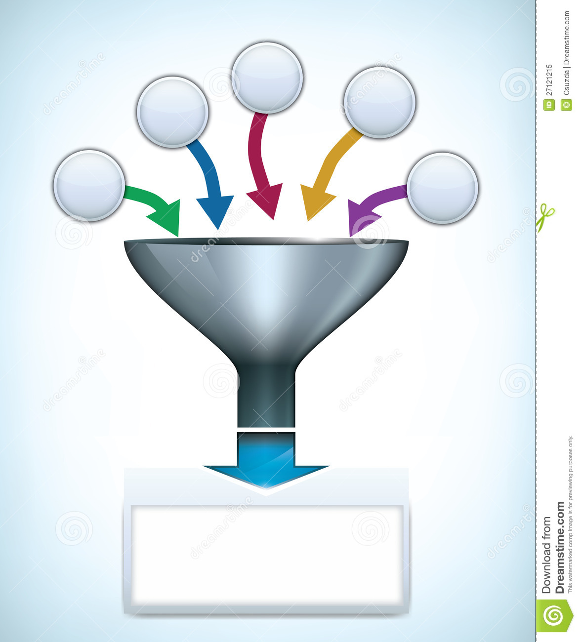 Funnel Presentation Template Royalty Free Stock Photo - Image ...