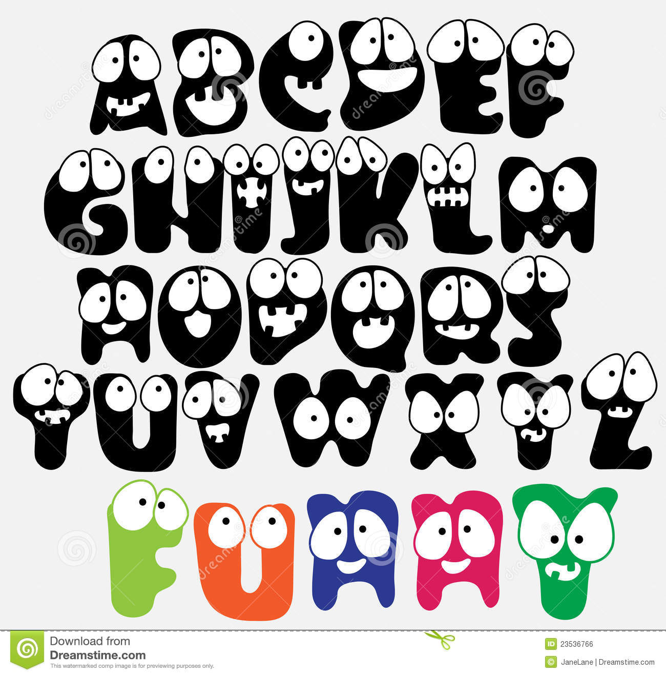 funny-abc-23536766 Abc Template Capital Letters on
