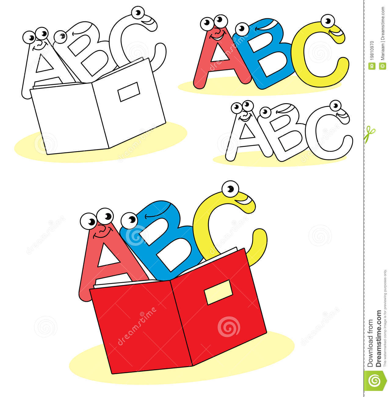 7 Letter Cartoon Characters : Funny abc cartoon letters stock illustration image of