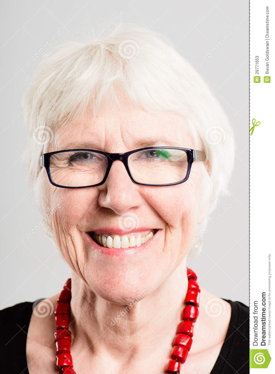 Portrait Real People High Definition Grey Background Stock