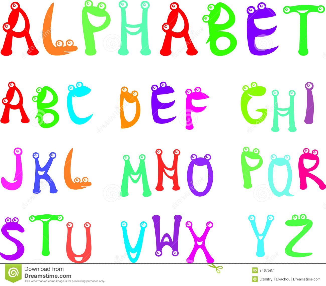 Funny Alphabet For Kids Stock Vector Image Of Read Media