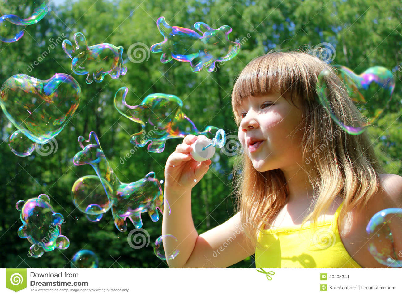 Funny Animals Shaped Soap Bubbles Stock Image Image Of