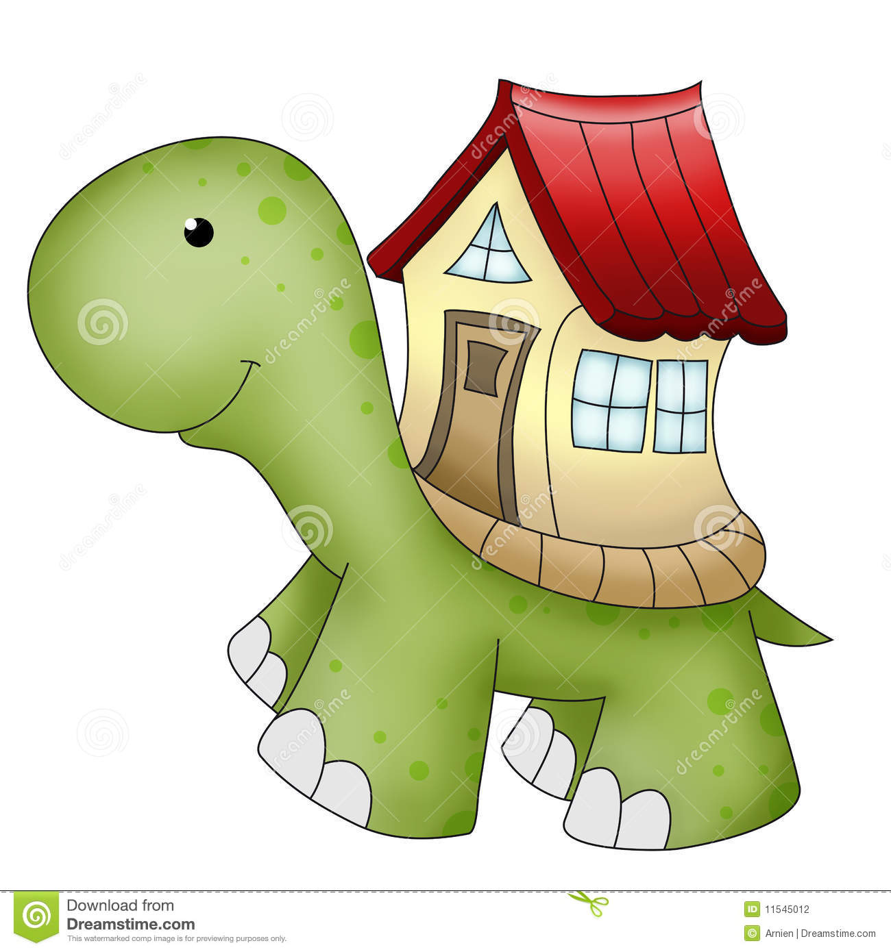 funny animals turtle and house stock photography   image 11545012