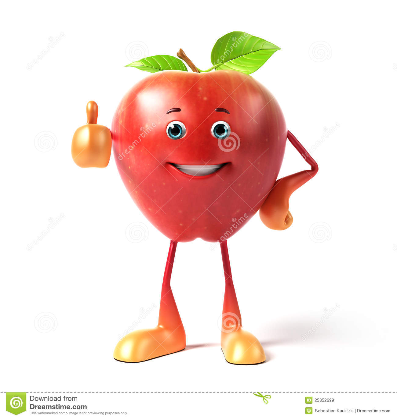 Funny apple stock illustration. Illustration of fresh ...