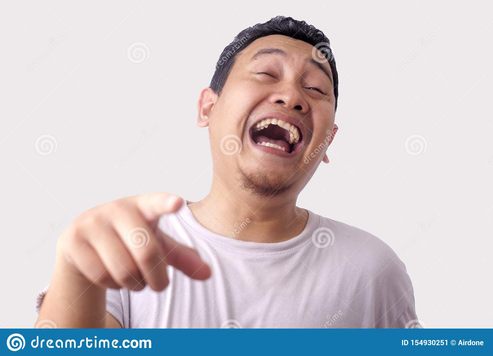 Funny Asian Man Laughing