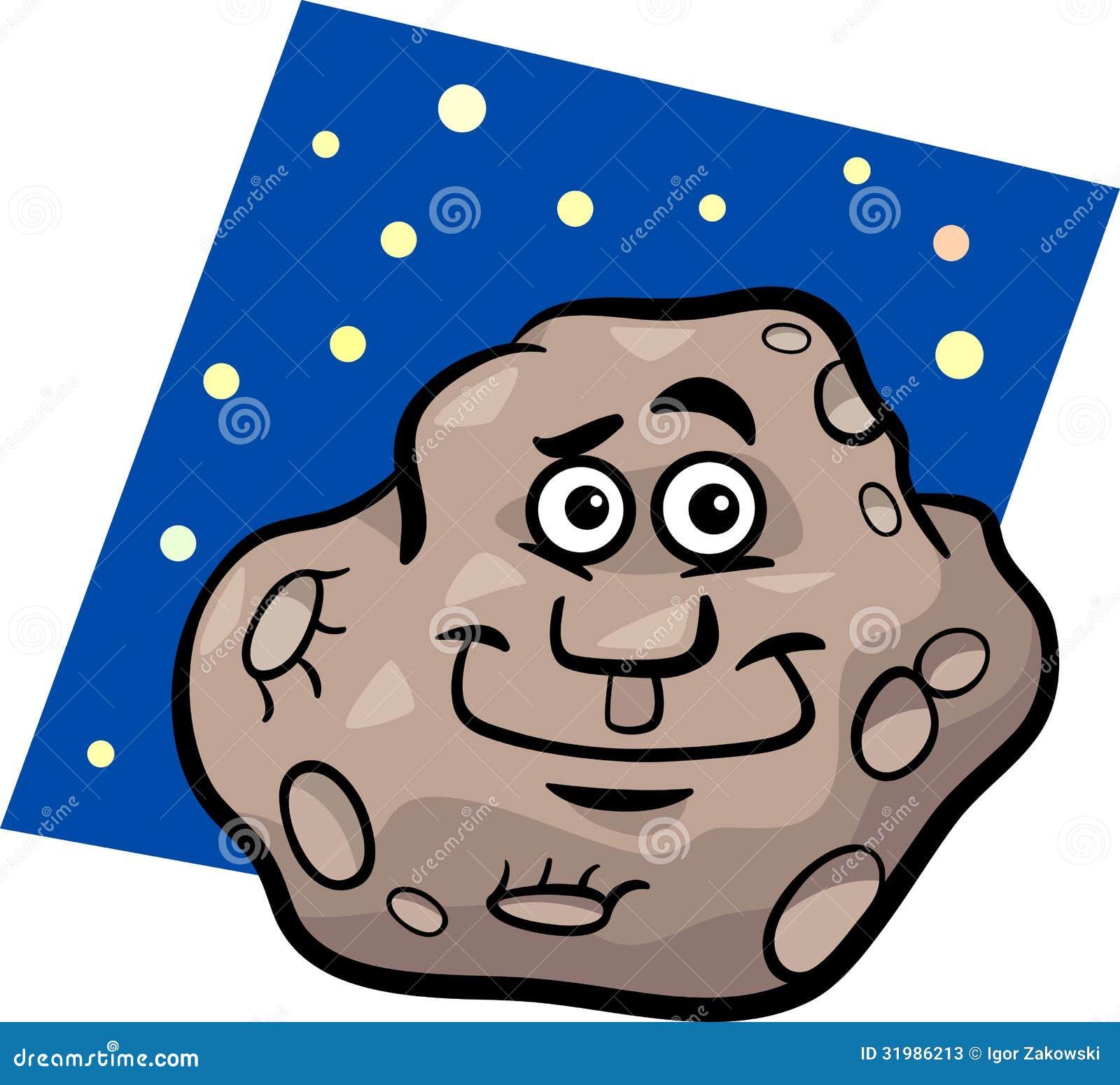 funny asteroid cartoon illustration stock photos   image 31986213