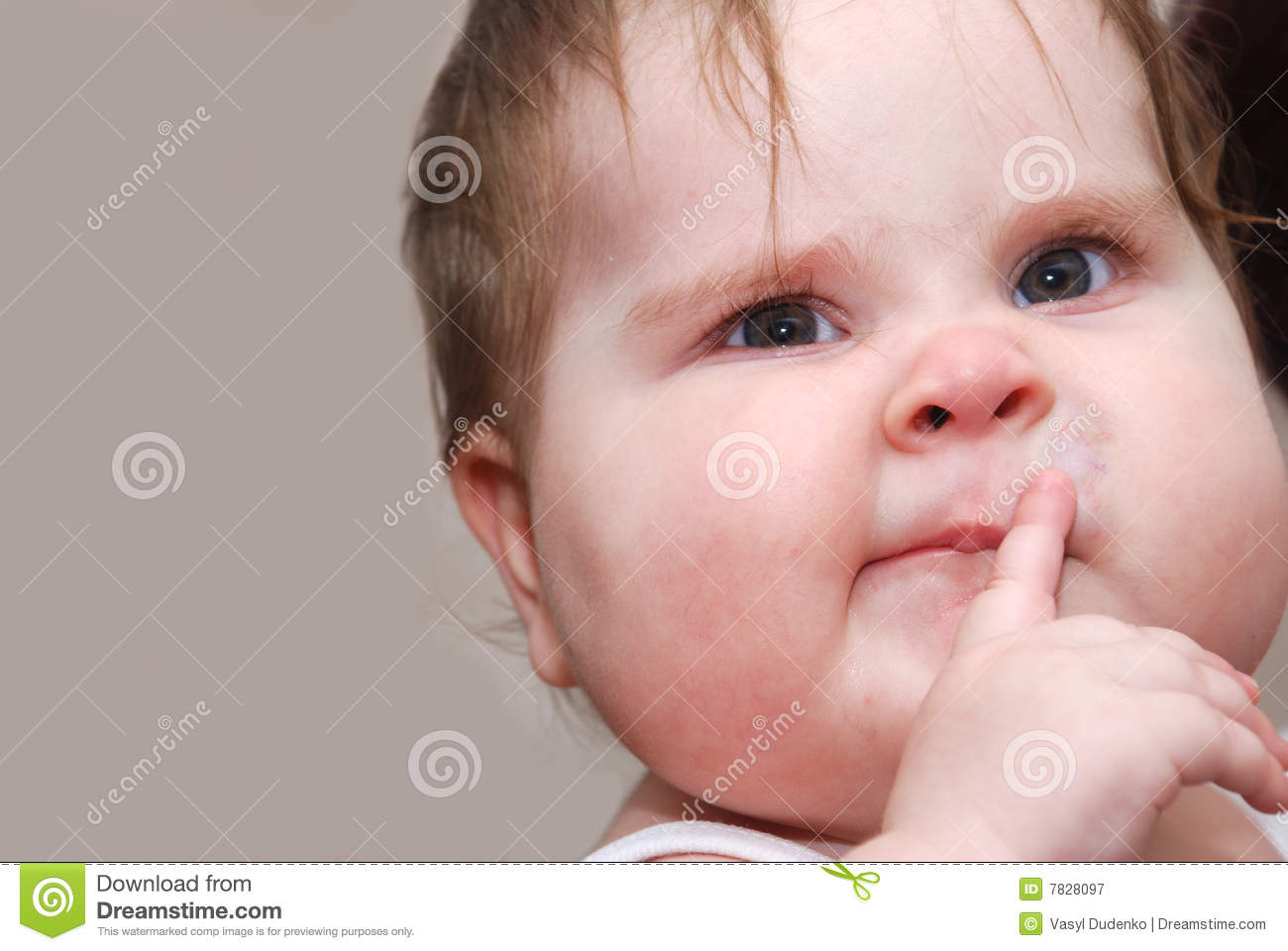 Funny Baby Stock Image Image Of Portrait Caucasian Sweet 7828097