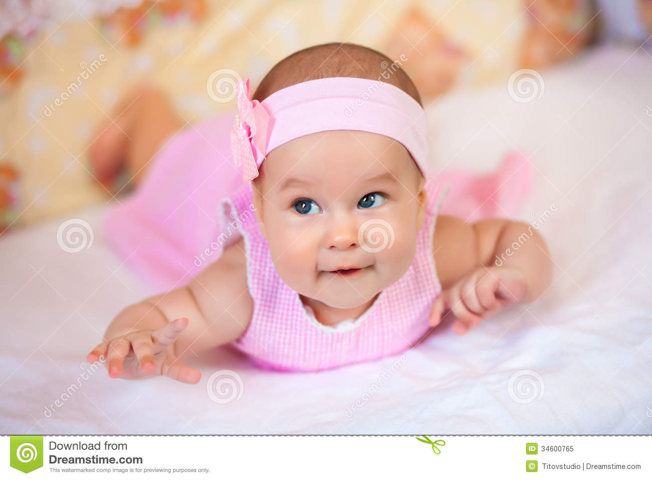 Funny Baby Girl In A Pink Dress Royalty Free Stock Photo ... Funny Baby Girl