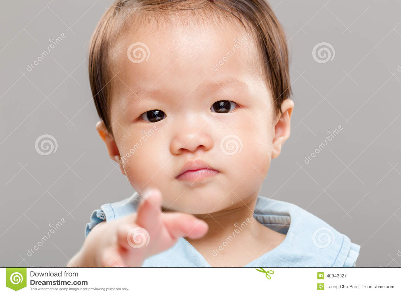 Funny Baby Girl Pointing Finger Stock Image - Image: 40943927 Cute Baby Pointing Finger