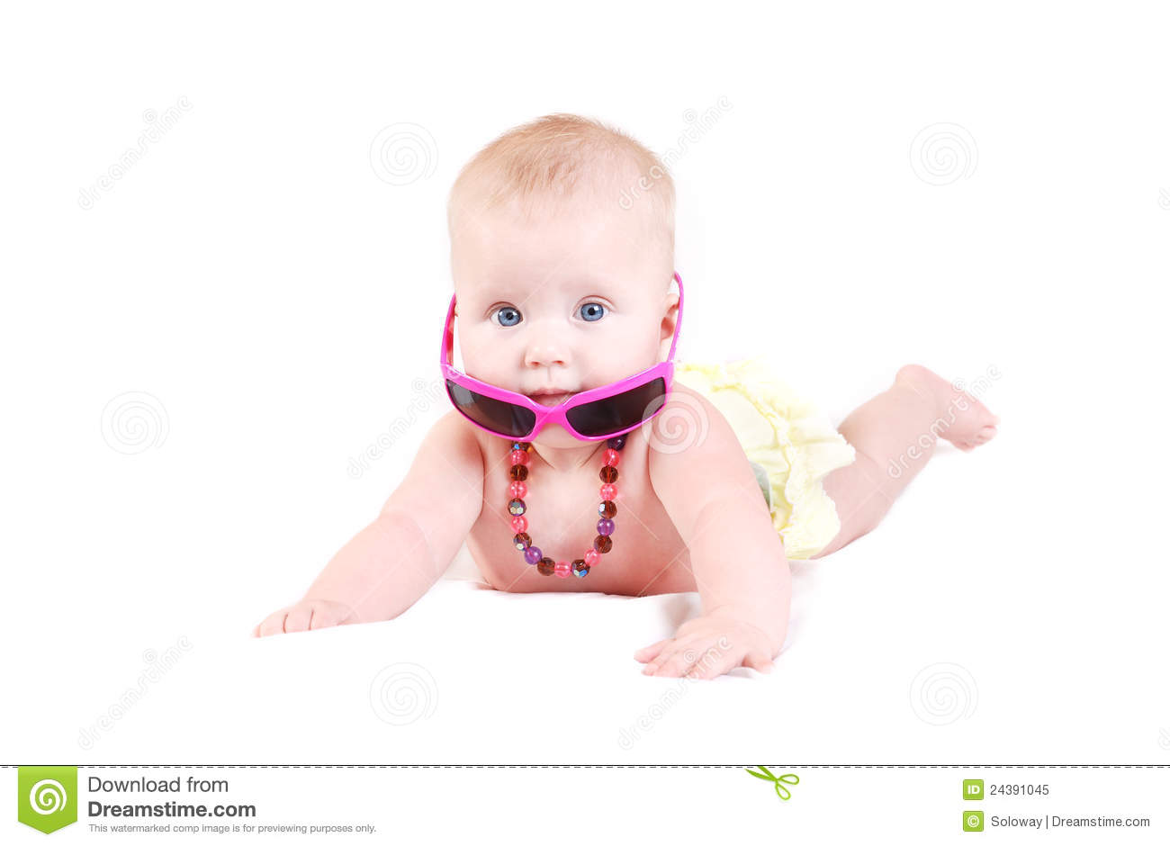 Funny Baby Girl In Sunglasses Royalty Free Stock Photo ... Funny Baby Girl