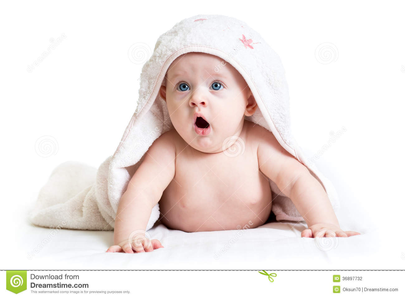 Funny Baby Girl In Towel Stock Photography - Image: 36897732 Funny Baby Girl