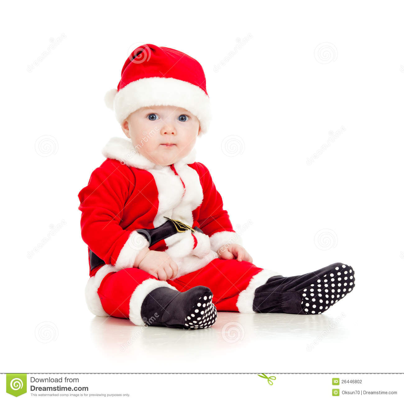 funny baby in santa claus clothes stock photo image of. Black Bedroom Furniture Sets. Home Design Ideas