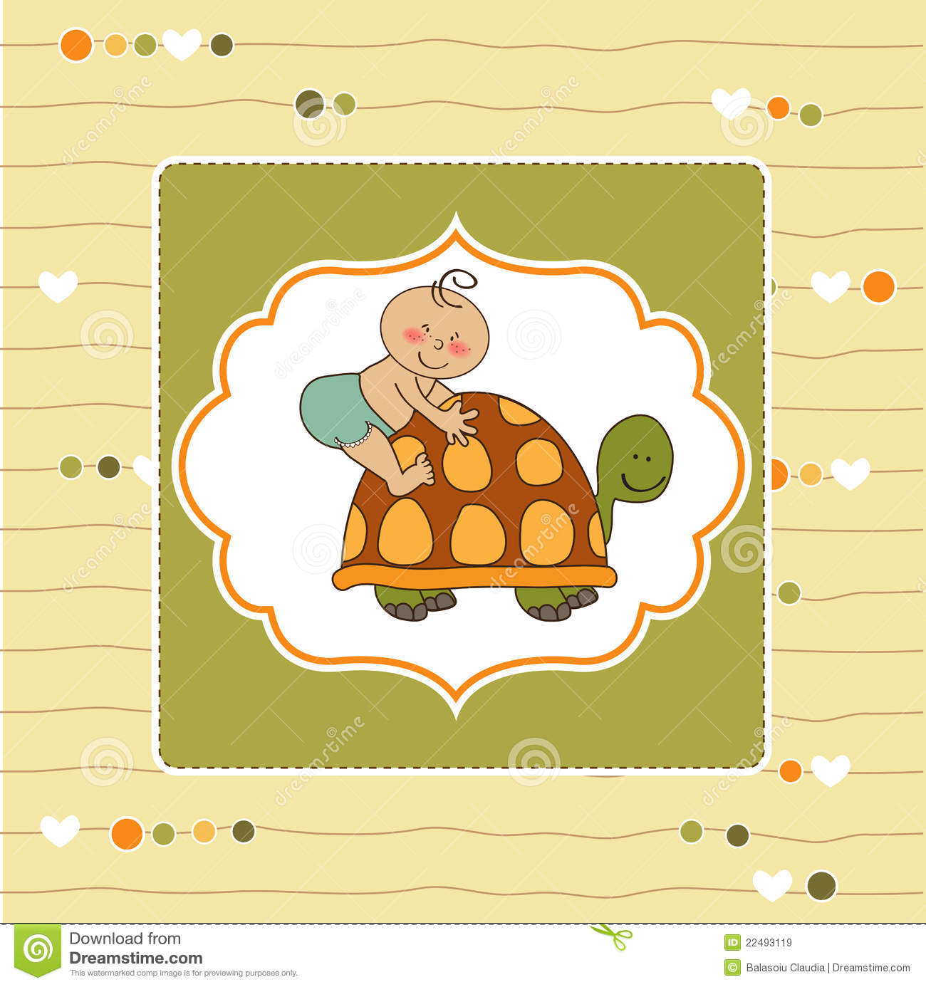 funny baby shower card royalty free stock images image 22493119