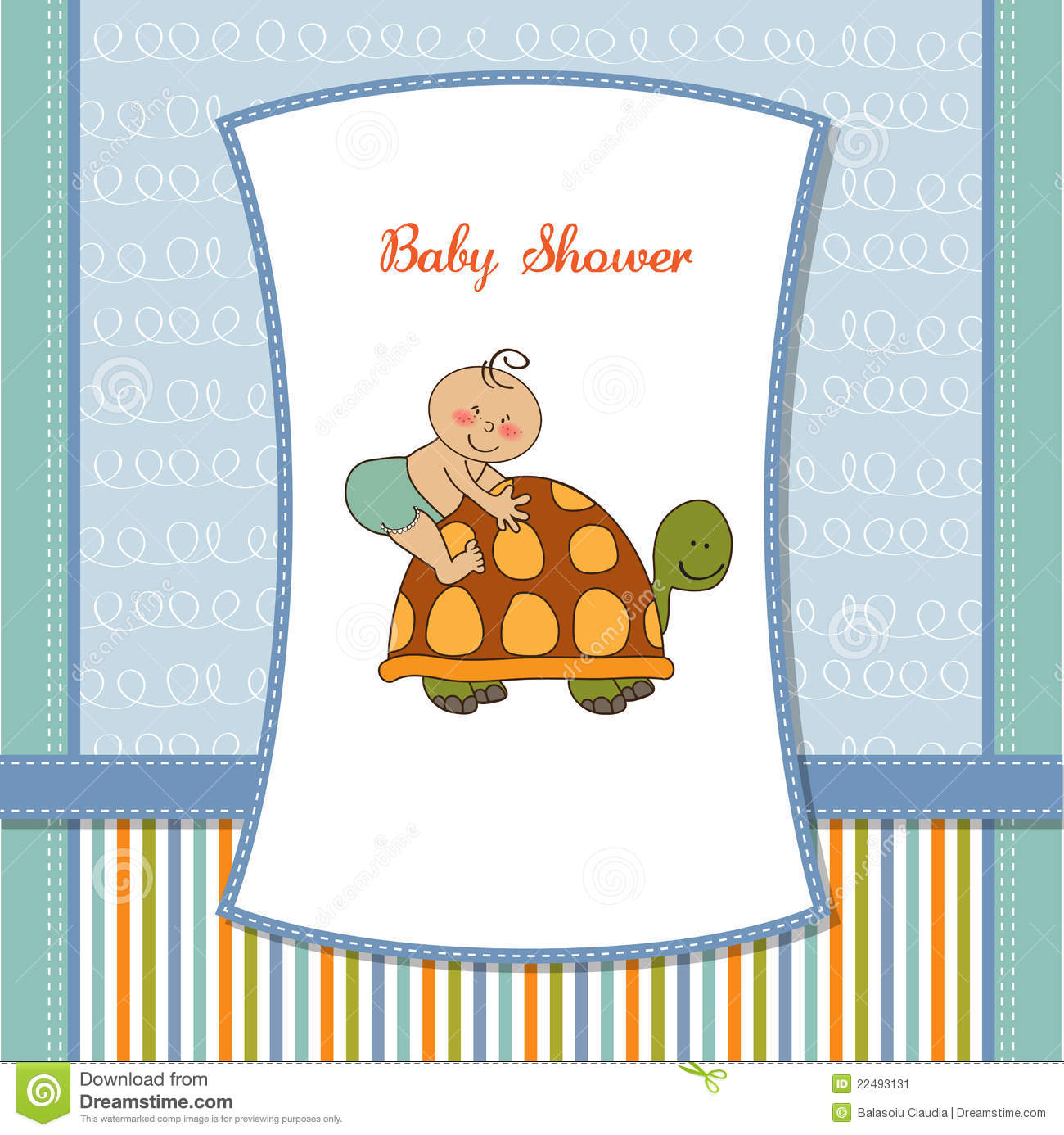 funny baby shower card stock image image 22493131
