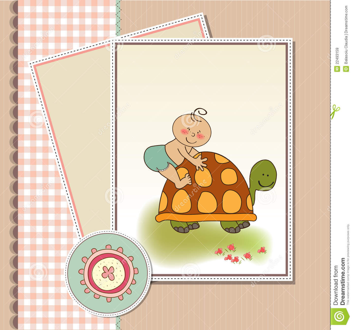 funny baby shower card royalty free stock images image 22493159