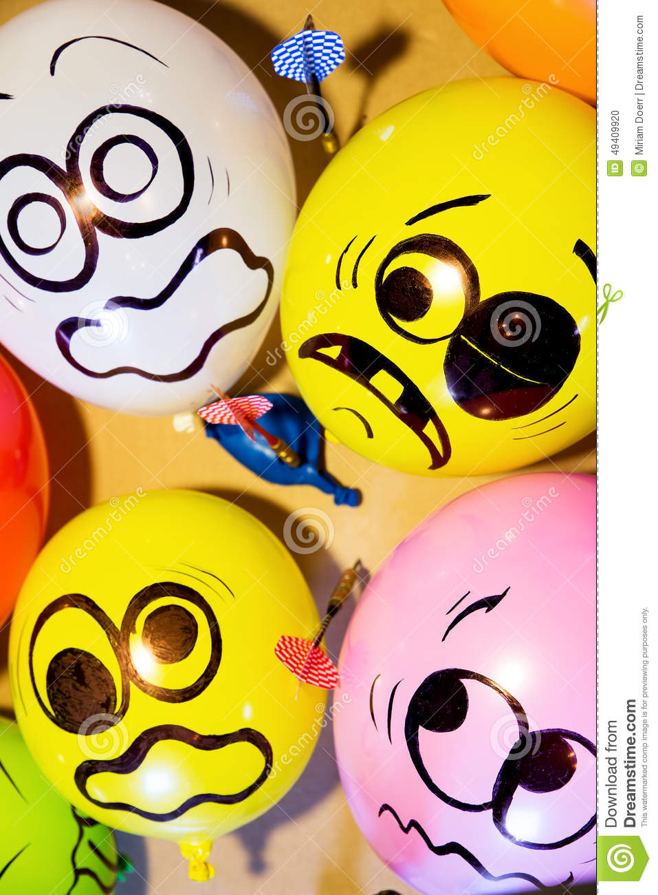 Funny balloon faces - Funny Balloon Faces Are Scared