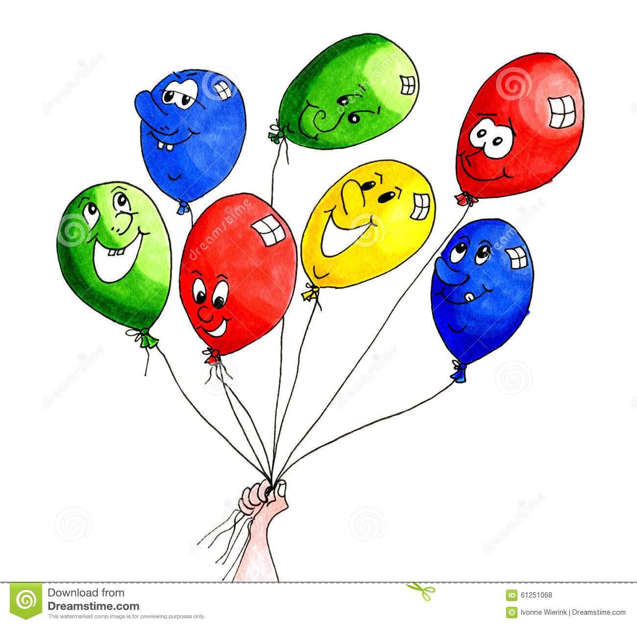 Funny balloon faces - Funny Balloons Stock Illustration