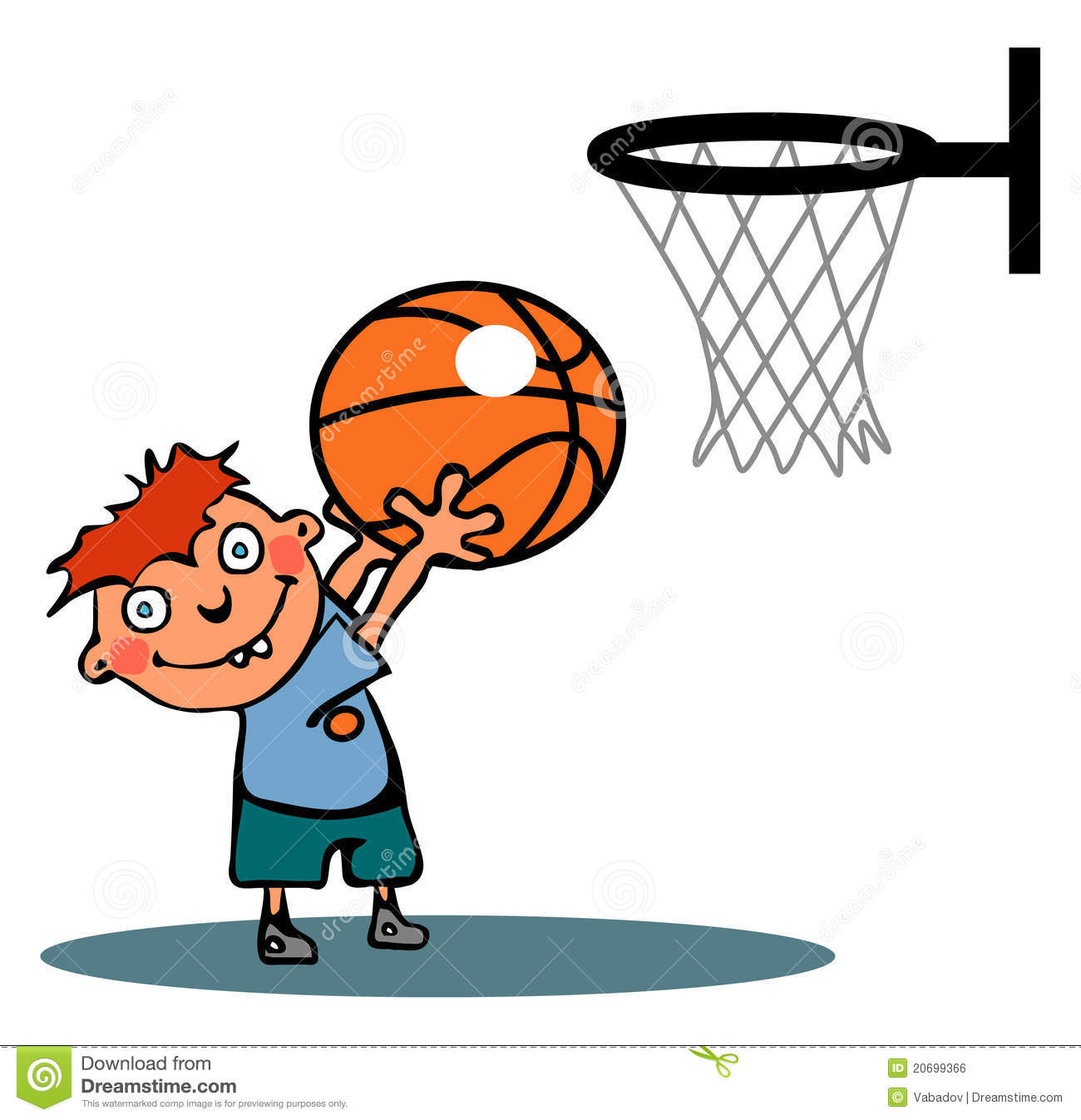Funny Basketball Boy Royalty Free Stock Image - Image: 20699366