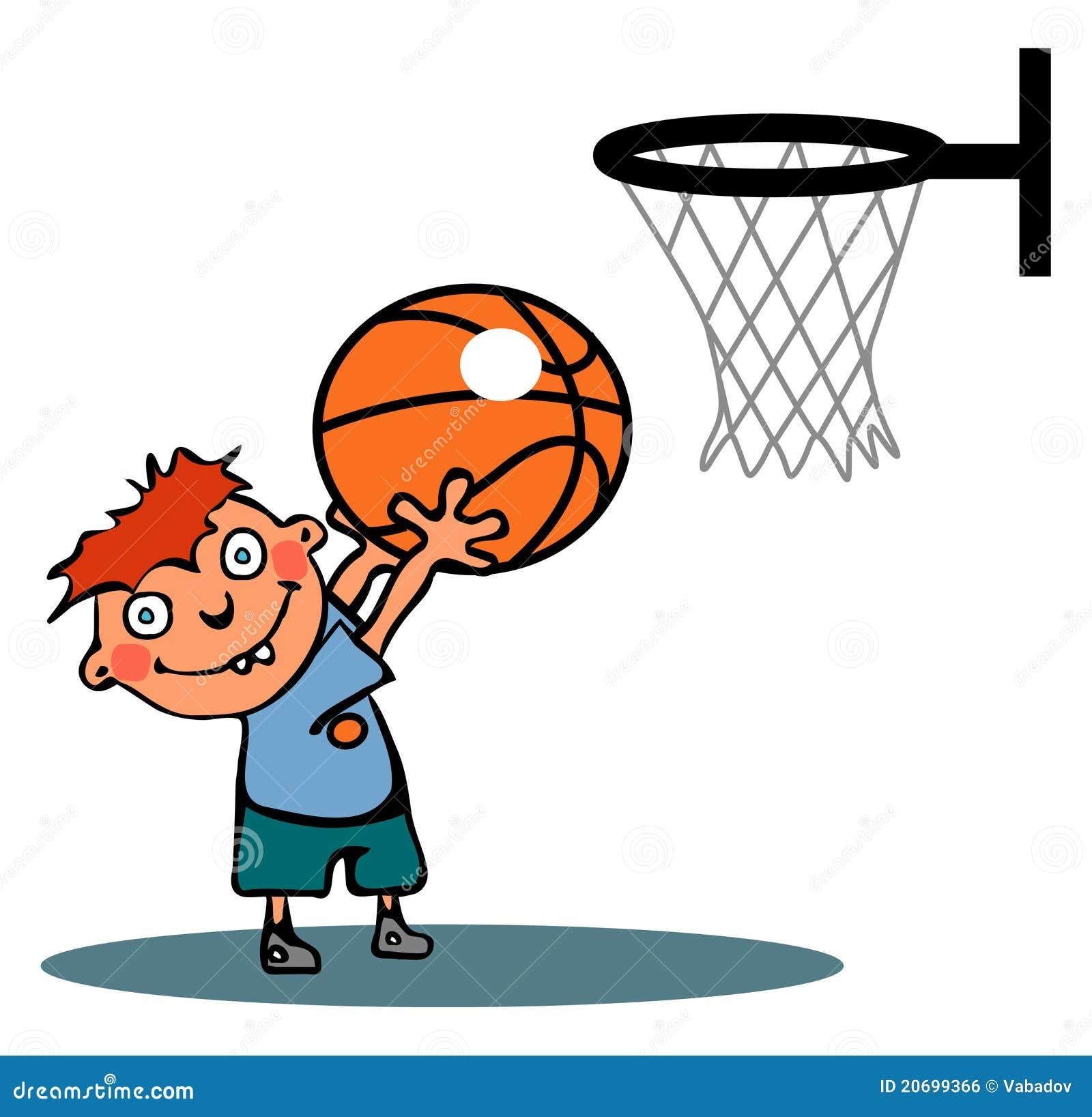 Cartoon Characters Playing Basketball : Funny basketball boy stock vector image of madness