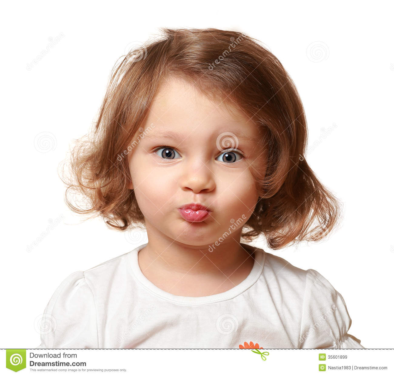 Funny Beautiful Kid Making Grimace Stock Image - Image ...