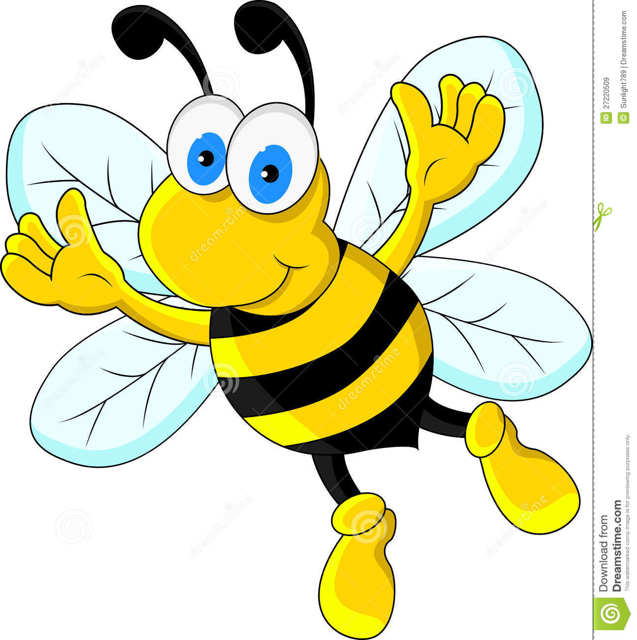 Funny Bee Cartoon Character Royalty Free Stock Images - Image ...