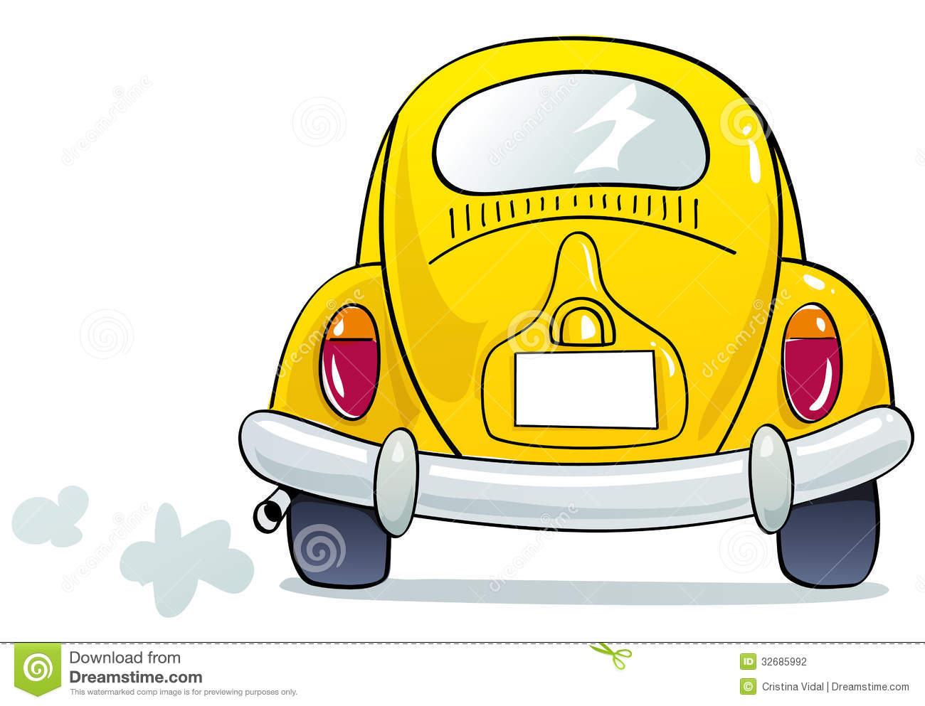 funny beetle stock vector illustration of driver flashing 32685992 rh dreamstime com clipart of back seat of car Red Car Clip Art