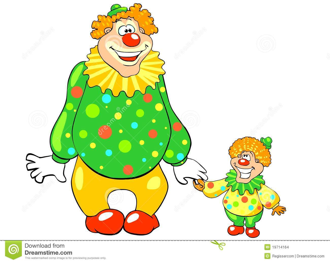 funny big and little clown stock images image 19714164 vacation clipart images Funny Vacation Clip Art
