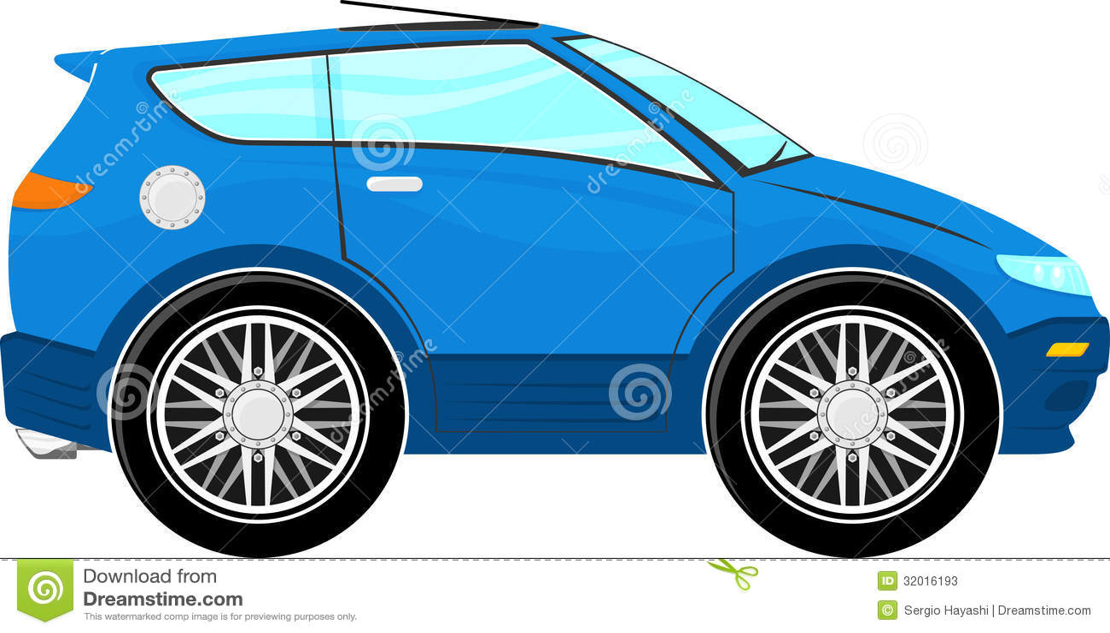 Funny Blue Car Cartoon Stock Photos Image 32016193