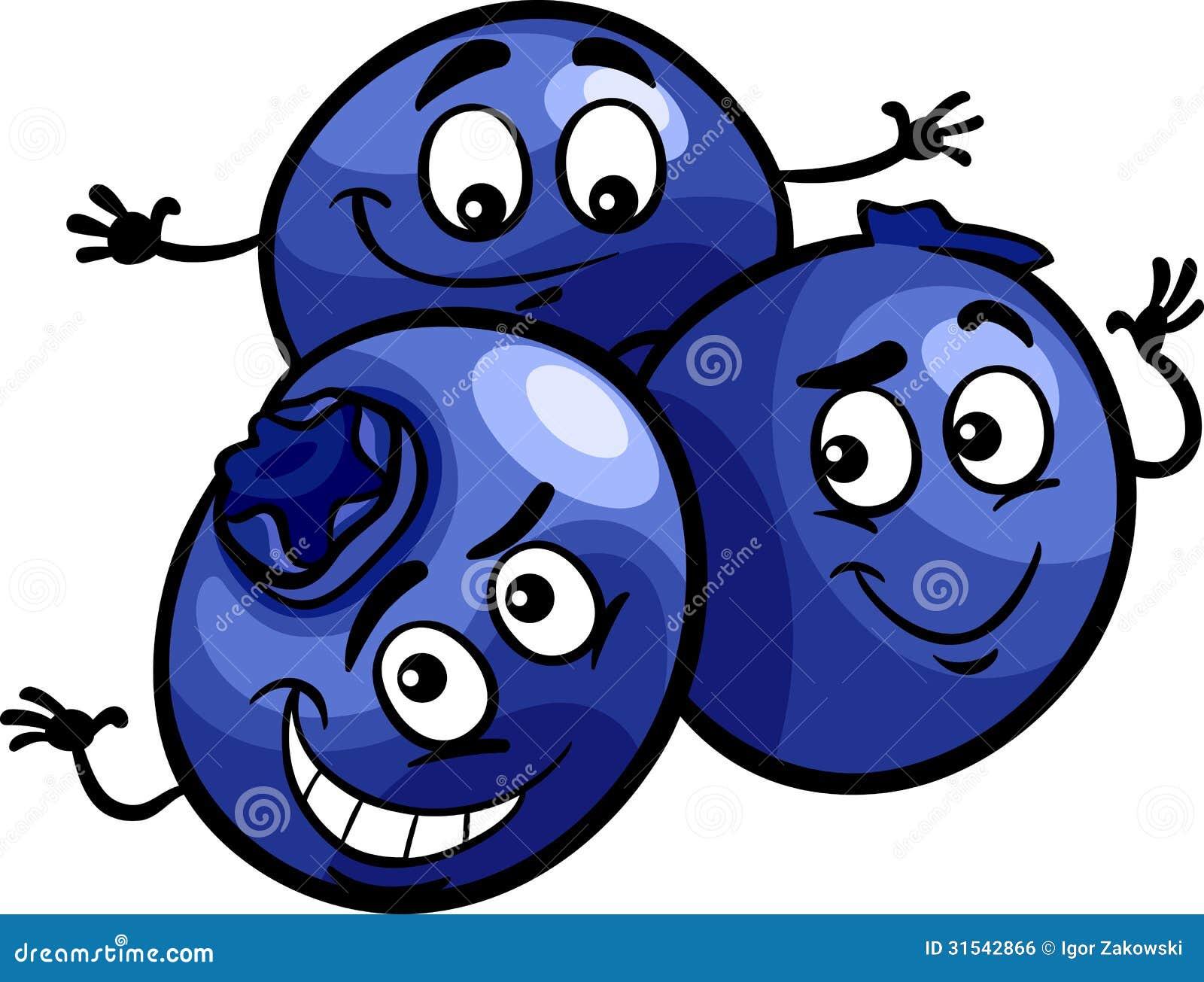 Funny Blueberry Fruits Cartoon Illustration Royalty Free ...