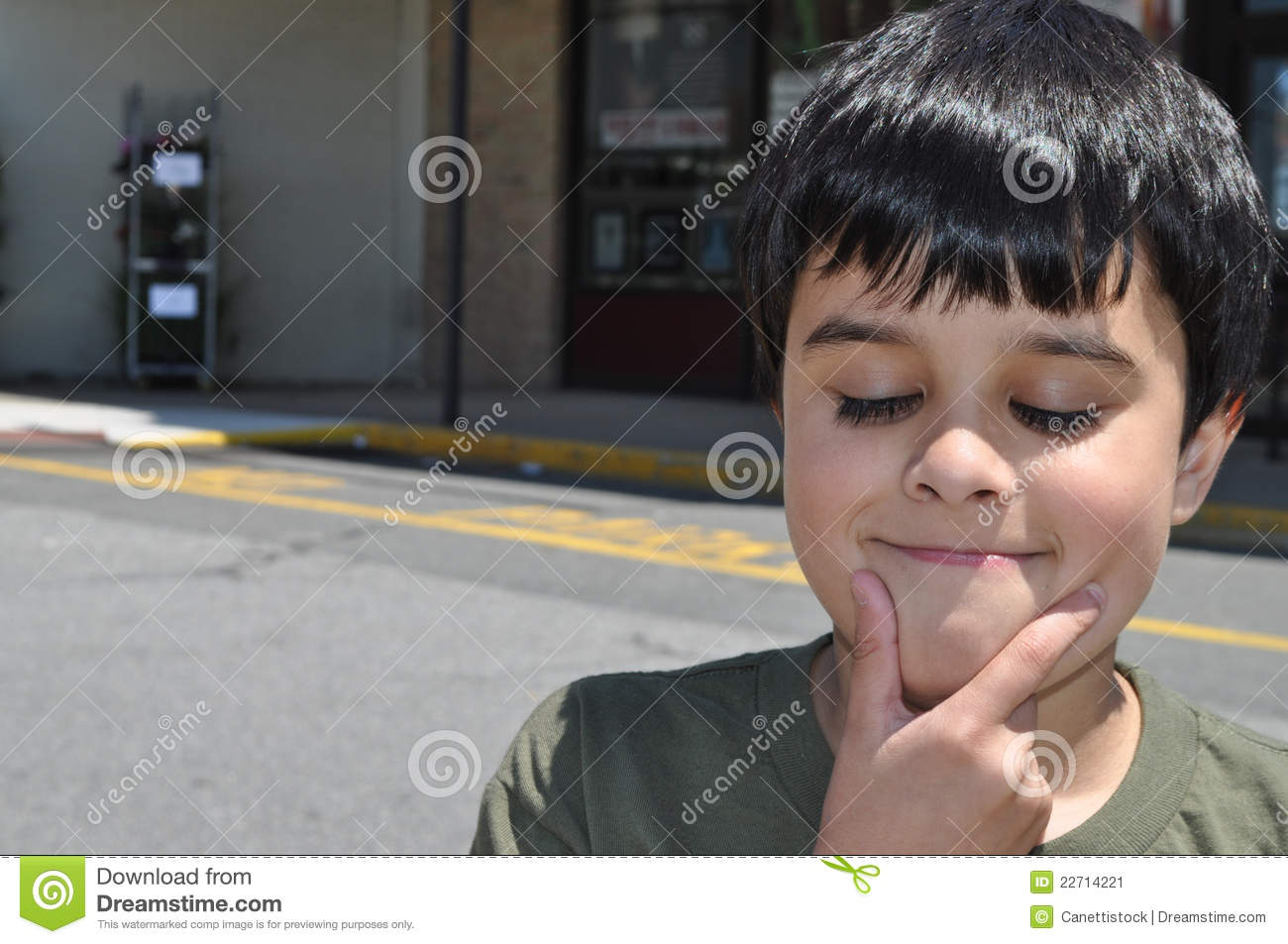 Funny Boy thinking stock image. Image of funny, expressive ...