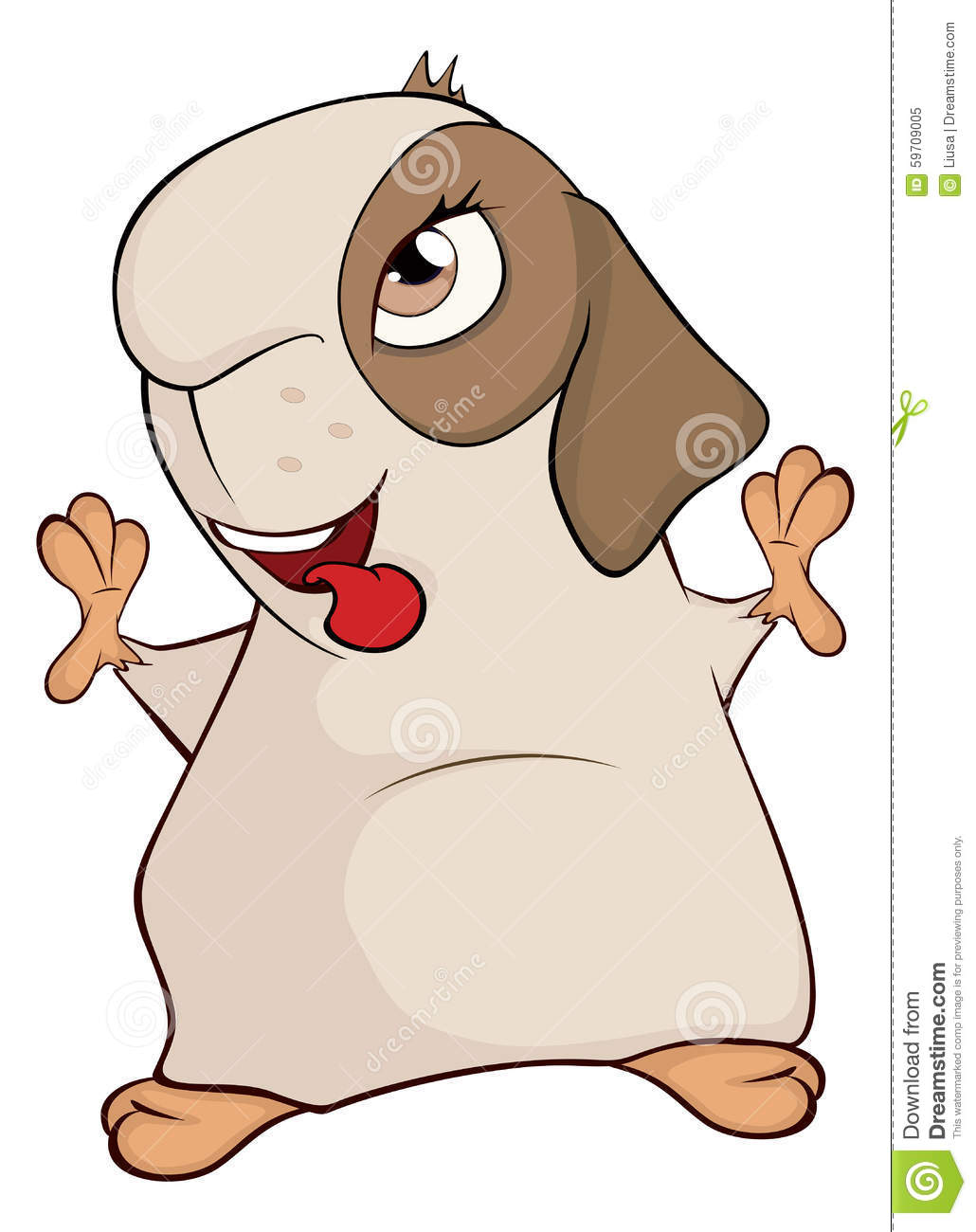 Funny Brown Guinea Pig Cartoon Stock Vector - Image: 59709005