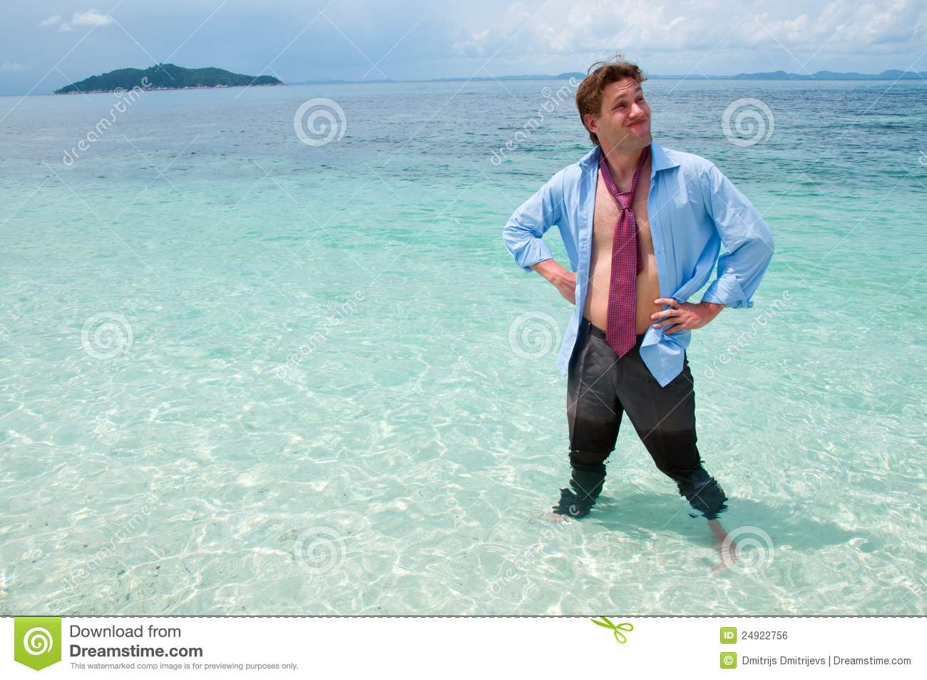 Funny Business Man On The Beach Stock Photo Image 24922756