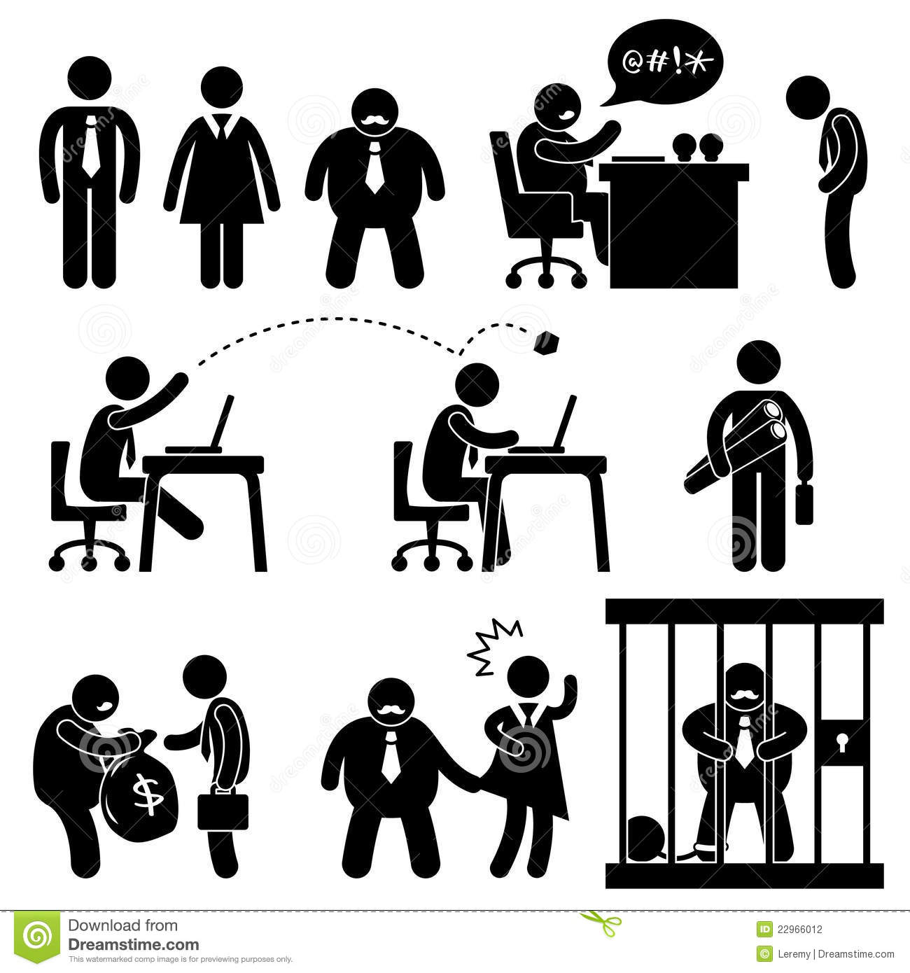 Funny Business Office Boss Icon Stock Photography - Image: 22966012: www.dreamstime.com/stock-photography-funny-business-office-boss...