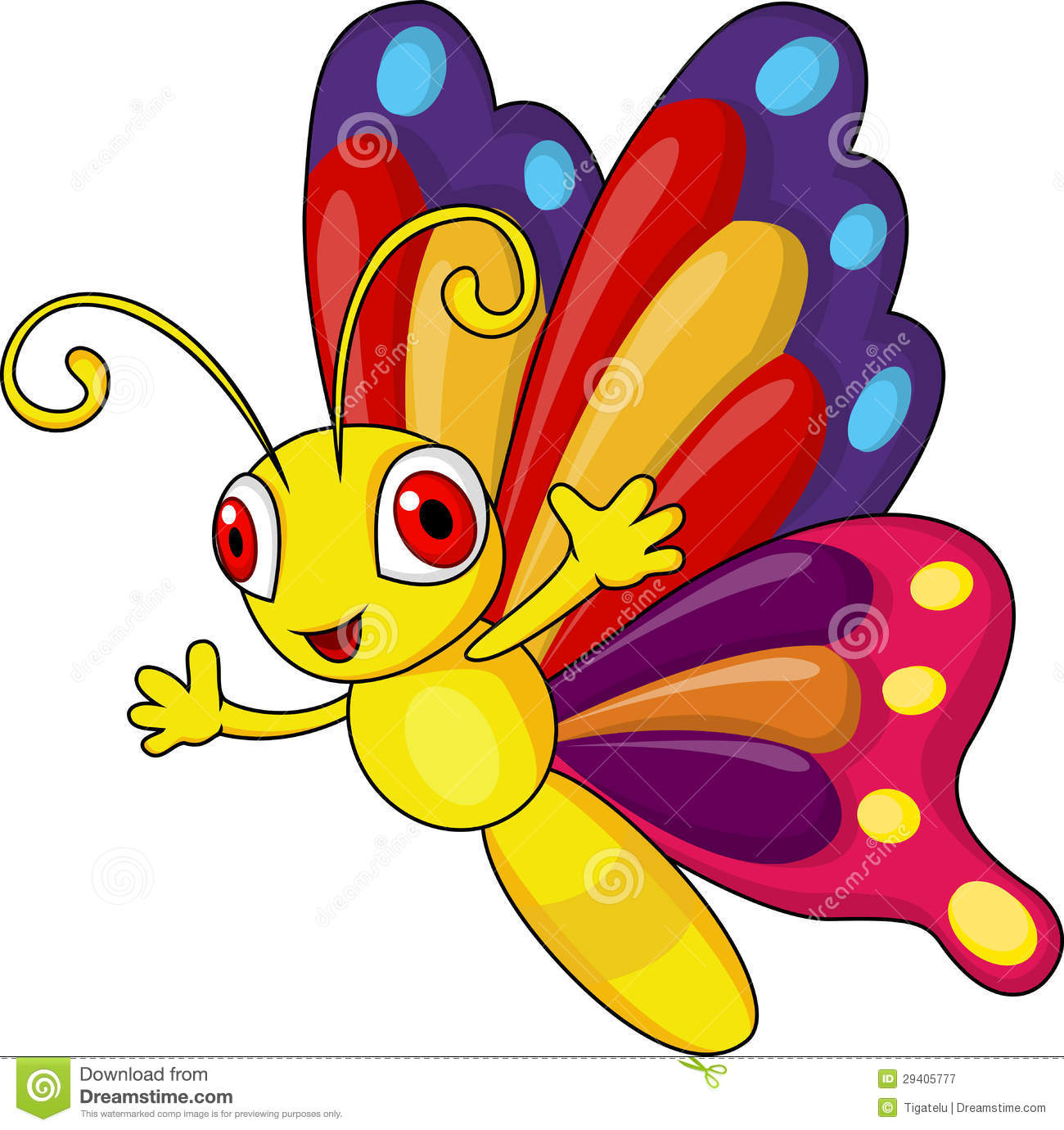 funny butterfly cartoon stock vector illustration of beetle 29405777