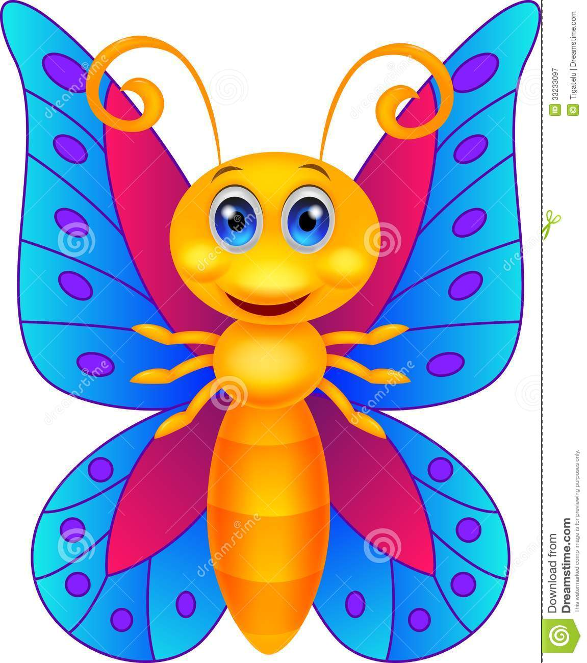 Funny Butterfly Cartoon Royalty Free Stock Photography - Image ...