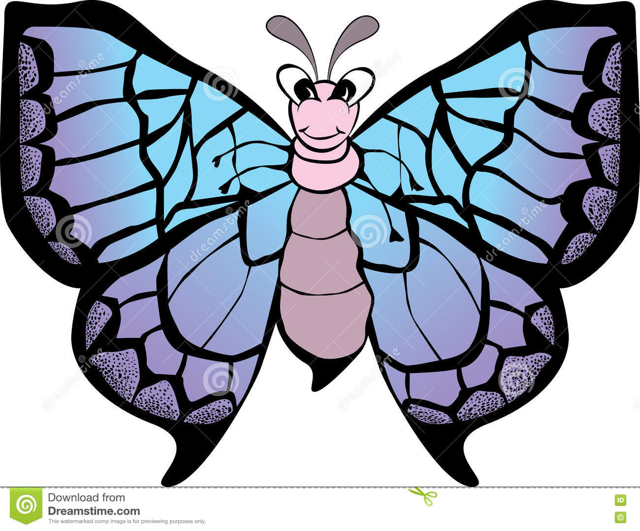 funny butterfly cartoon stock vector image 73749434