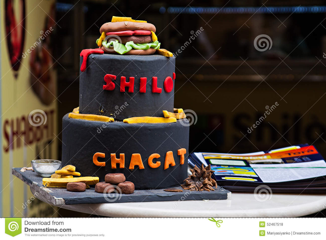 Funny Cake In Jewish Cafe In Ghetto Quarter In Rome Stock Photo Image 5246