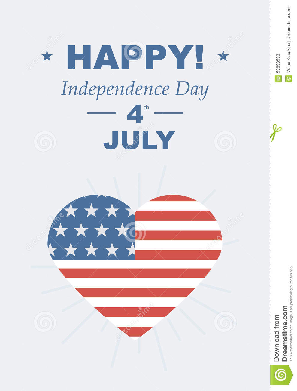 Funny card happy 4th of july stock vector illustration of banner feast day of american independence retro card with congratulations vector illustrations love of country usa m4hsunfo