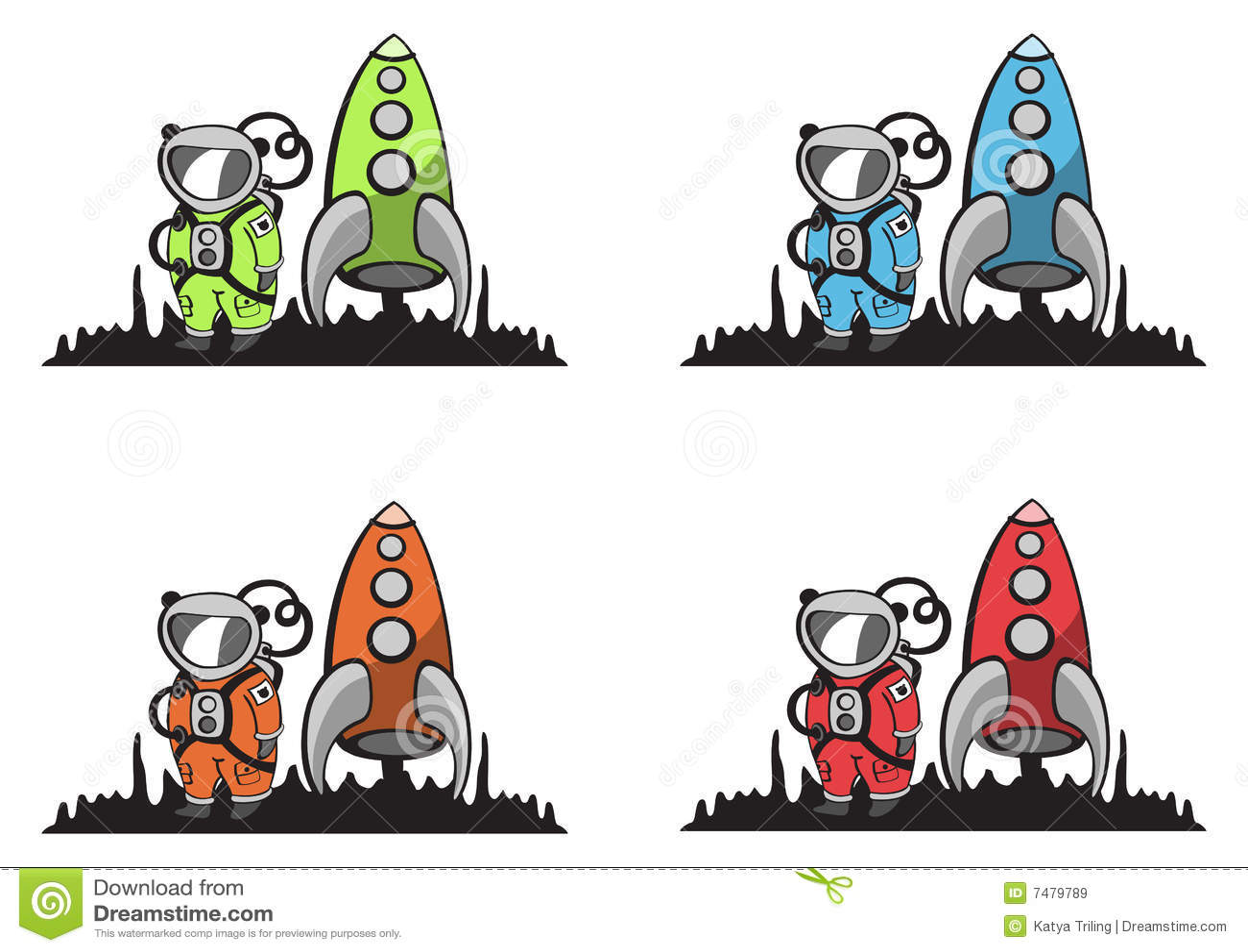 Funny, cartoon astronaut stock vector. Image of blastoff ...