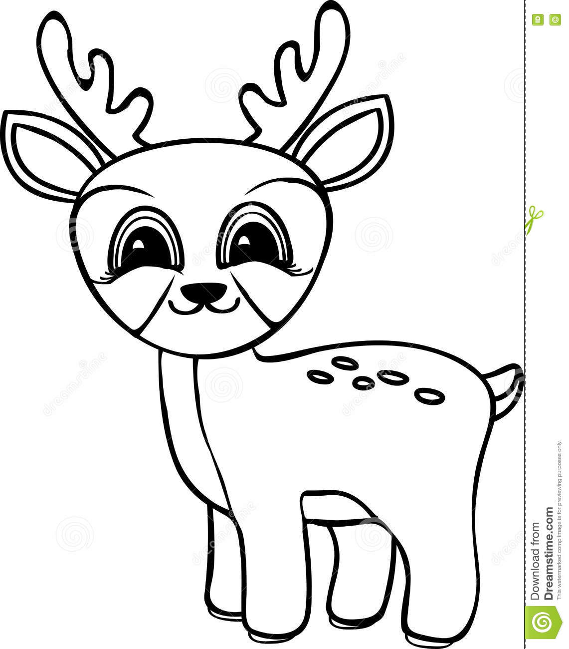 cartoon deer coloring pages - photo#8