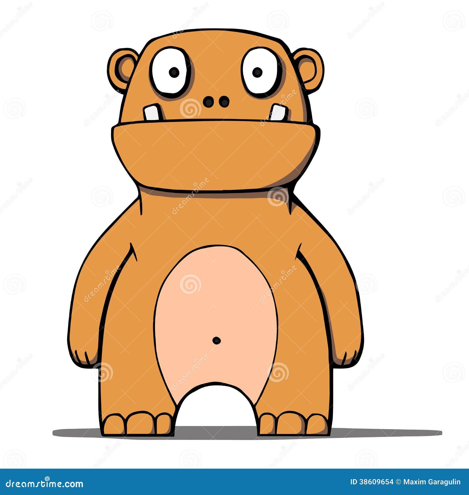 Funny Cartoon Bear Monster. Vector Illustration Stock ... - photo#2