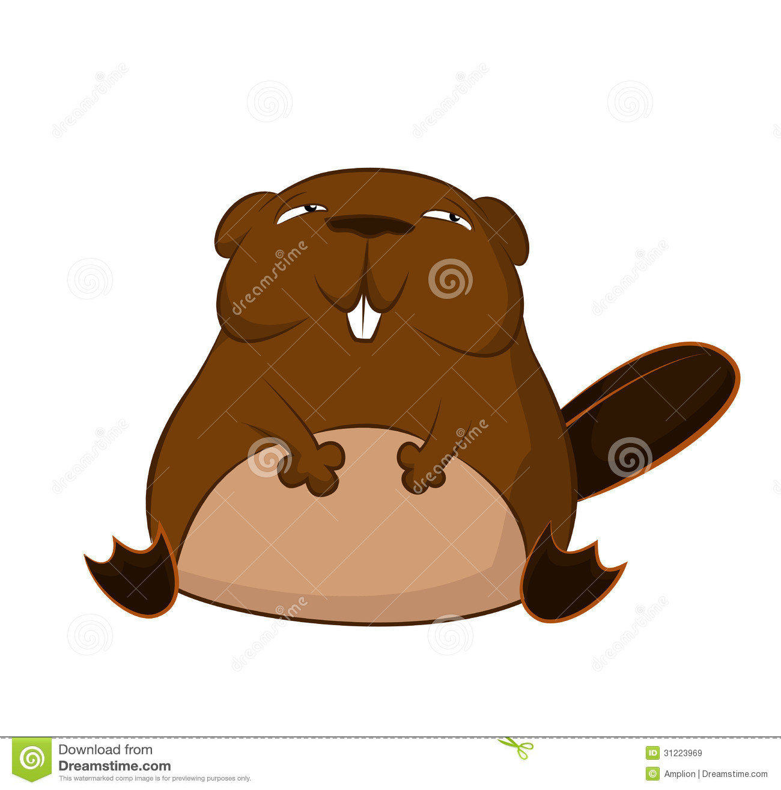 Funny cartoon beaver royalty free stock images image 31223969