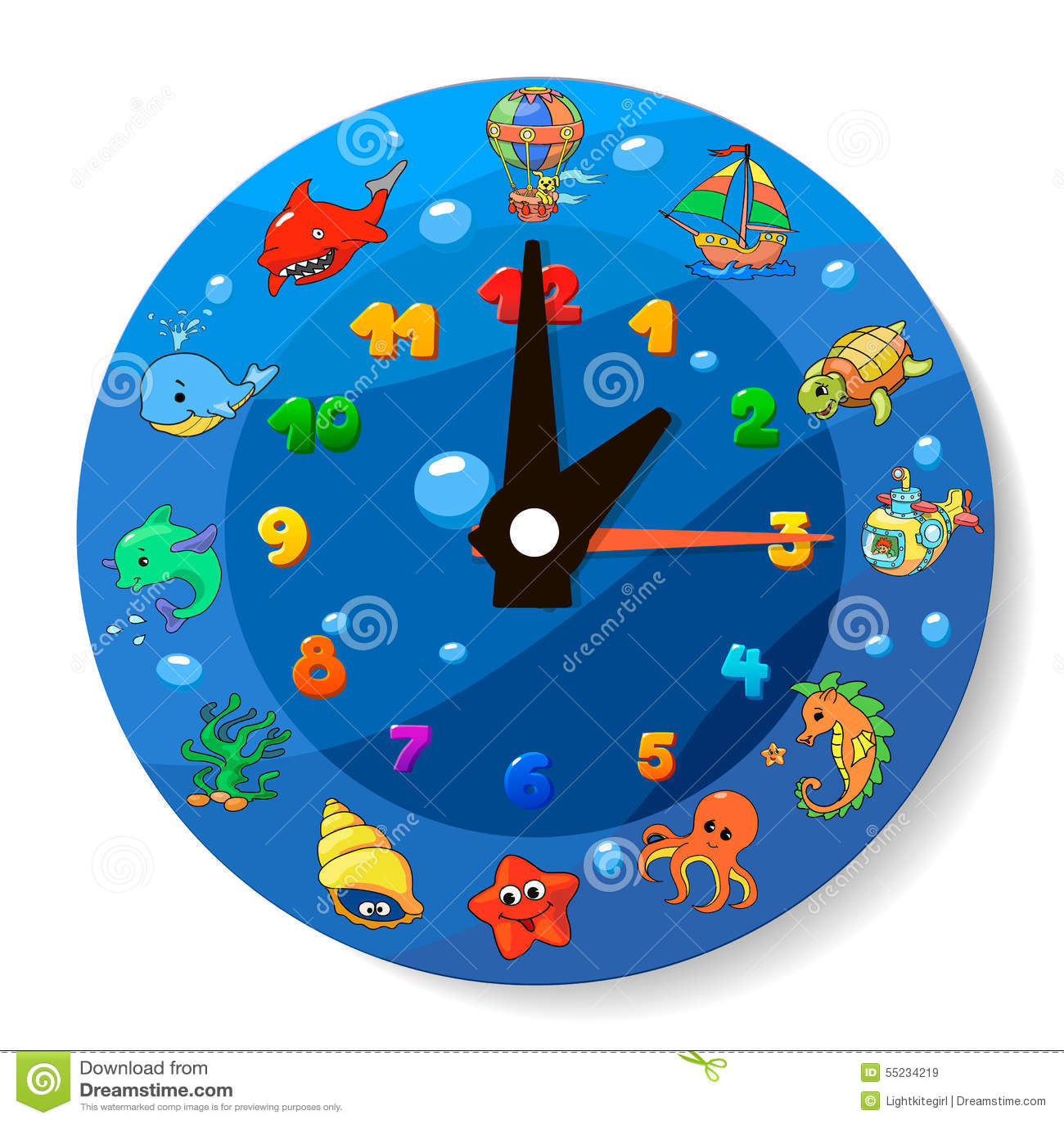 Worksheet Clock For Kids clock for kids stock illustration image 46472471 funny cartoon royalty free images