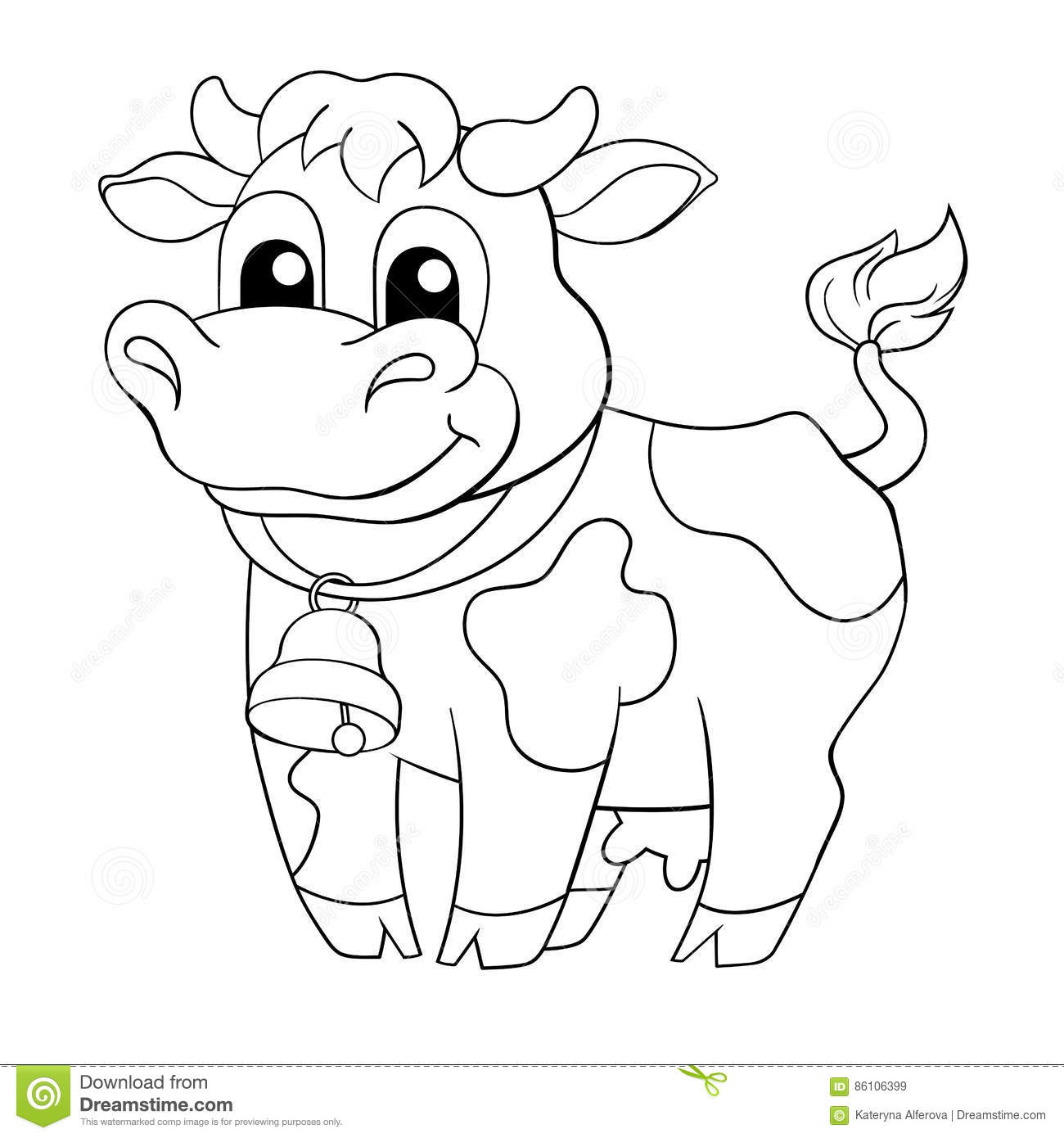 Funny Cartoon Cow Stock Vector. Illustration Of Mammals