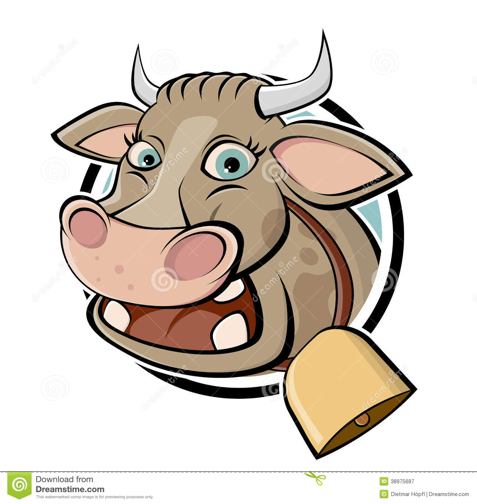 funny cartoon cow stock vector image 38975687