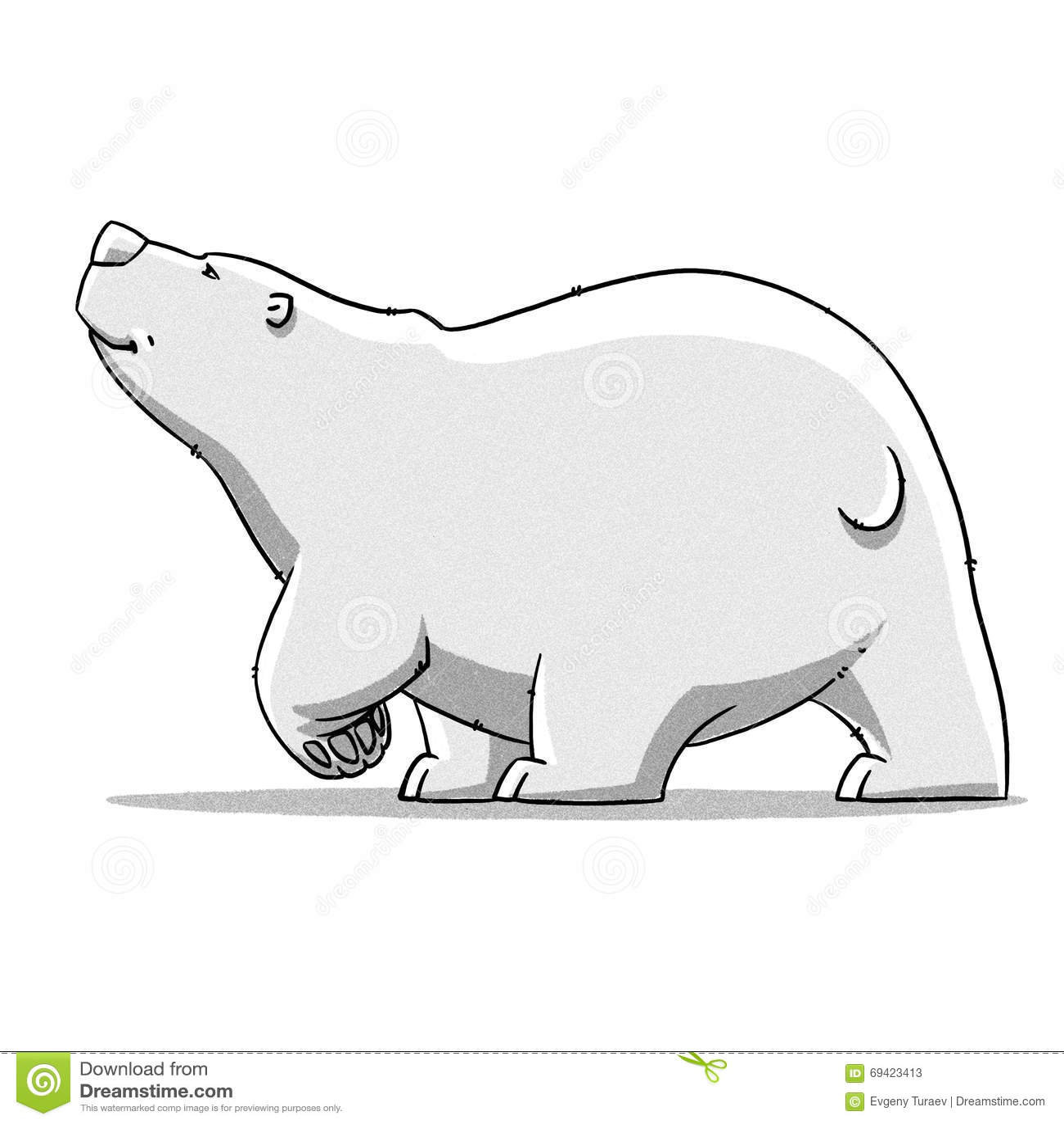 funny cartoon cute bear illustration stock illustration