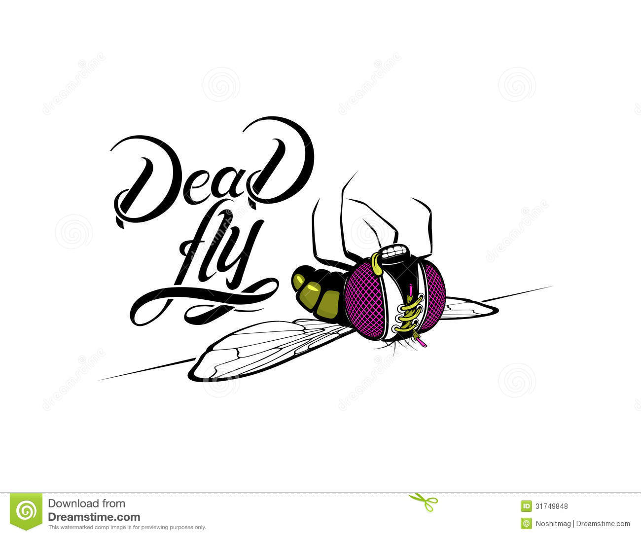 Funny Cartoon Dead Fly Royalty Free Stock Photos - Image ...