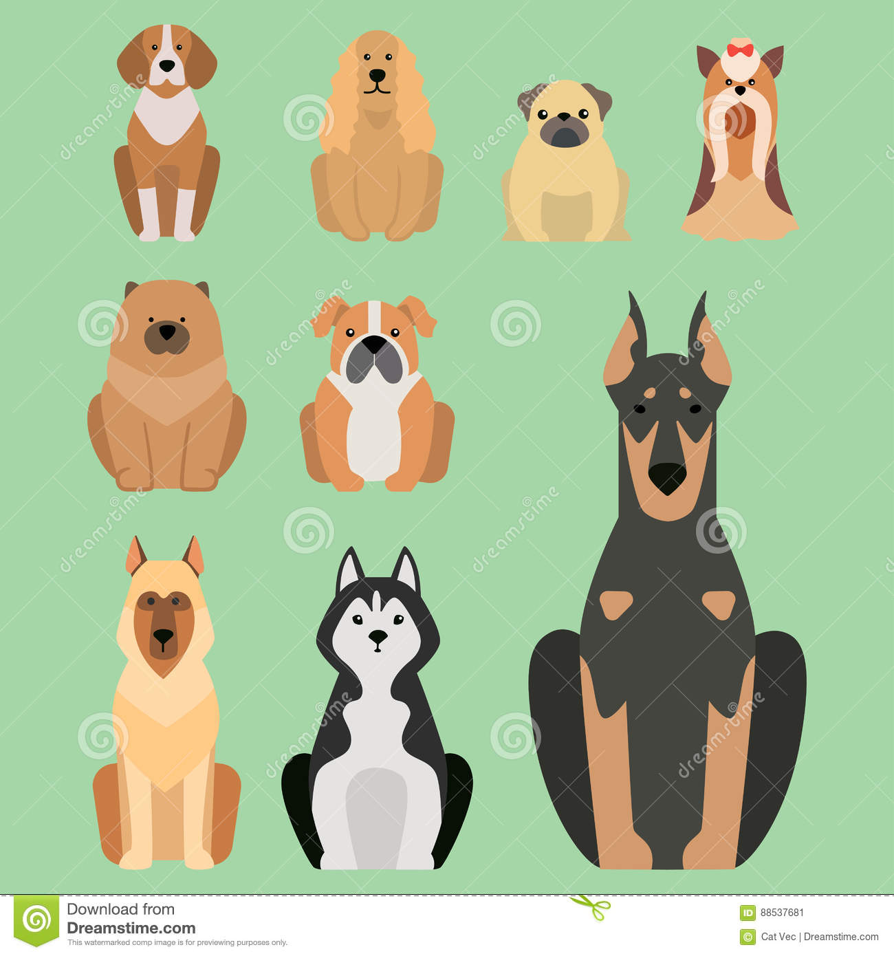 Funny cartoon dog character bread illustration in cartoon style happy puppy and isolated friendly mammal adorable mascot