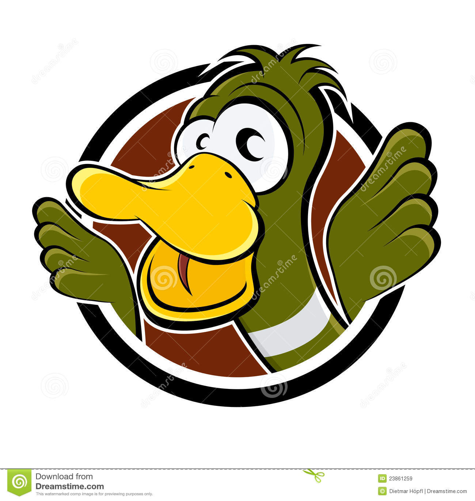 Funny cartoon duck stock vector. Image of animal, cute ...