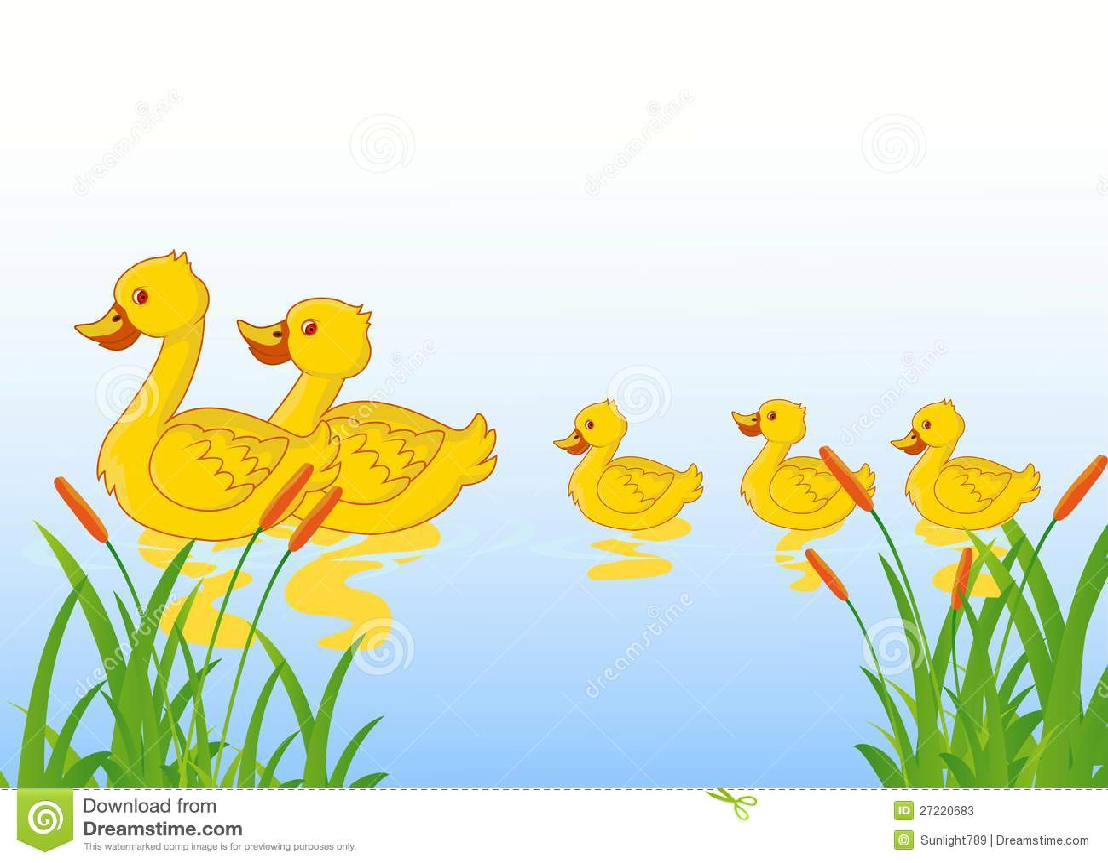 funny cartoon duck family stock photos image 27220683